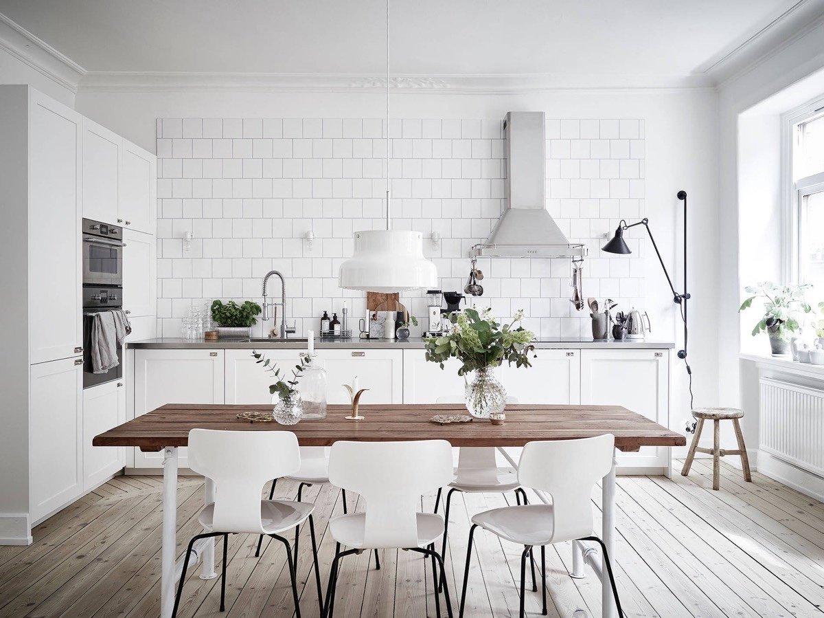 Cucina scandinava: come disporre i mobili