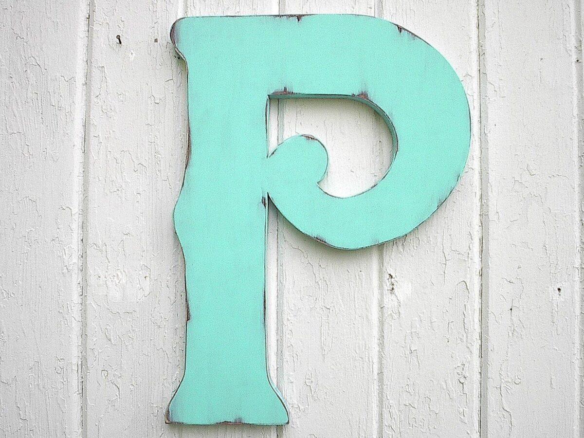 Decorare le lettere in legno in stile Shabby Chic
