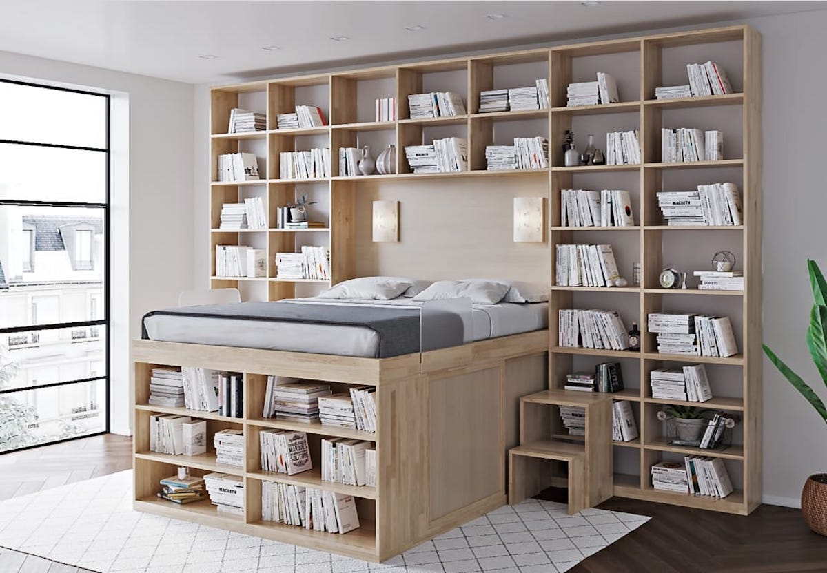 libreria-monolocale-letto-1