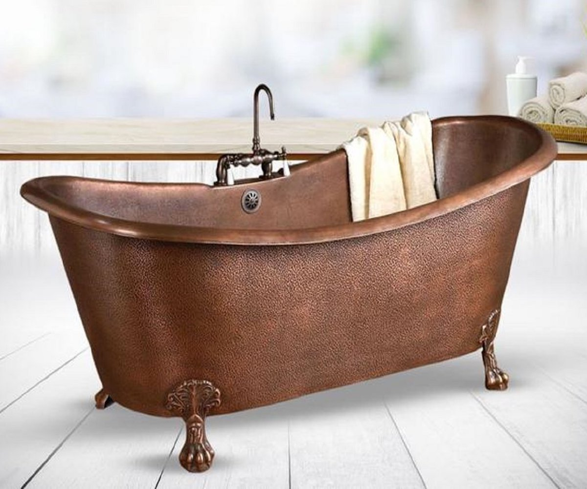 vasca-bagno-stile-shabby-chic-ottone