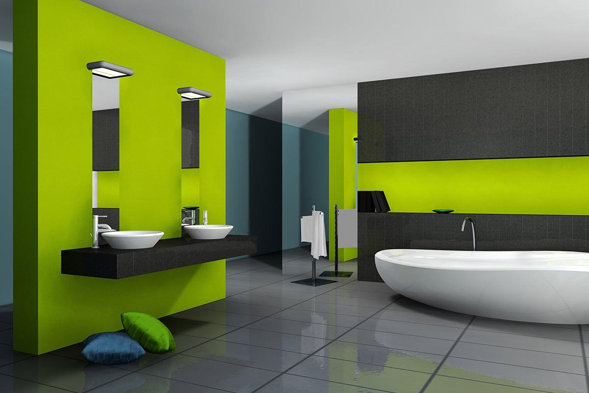 bagno-pareti-color-verde-lime 16