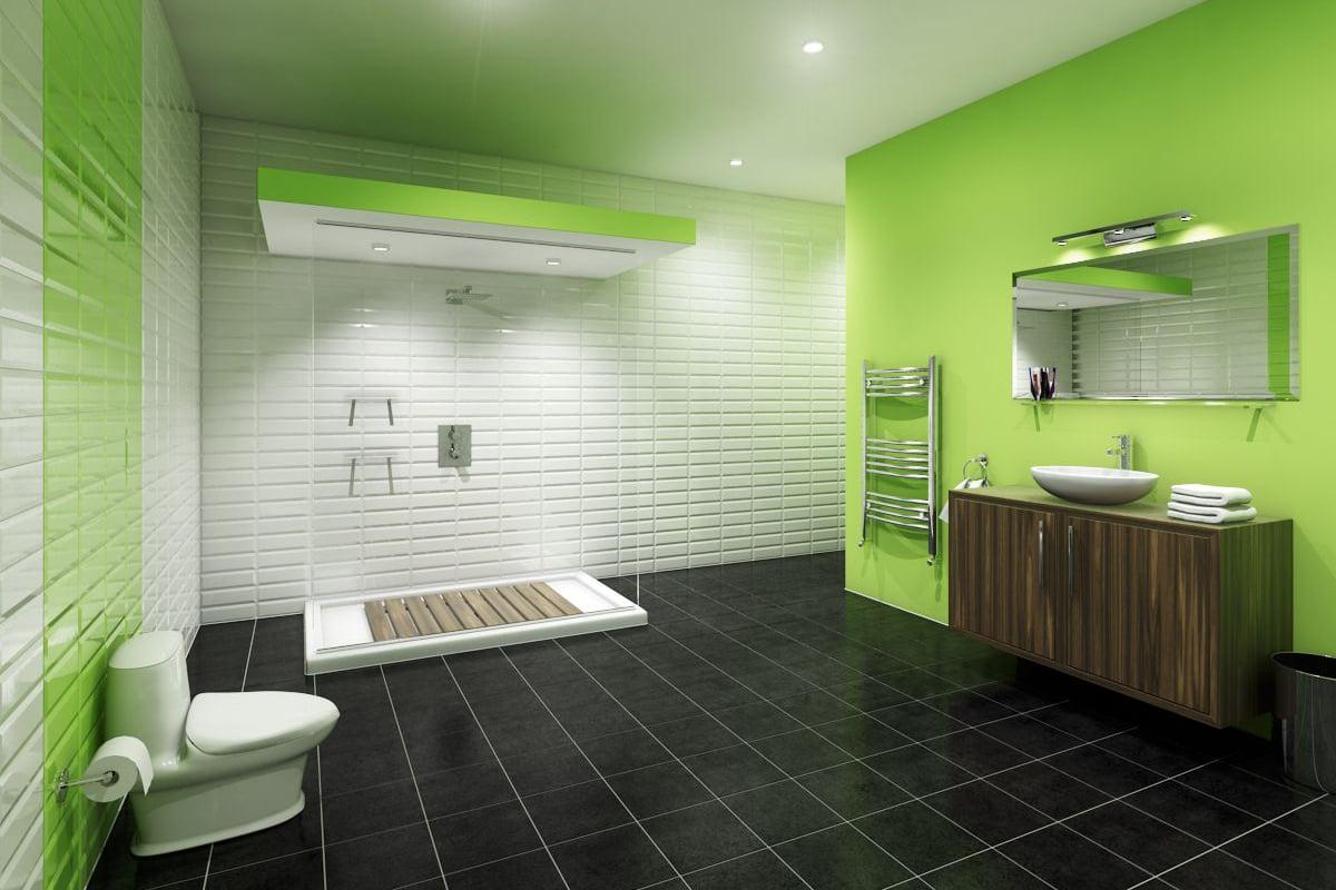 bagno-pareti-color-verde-lime 17