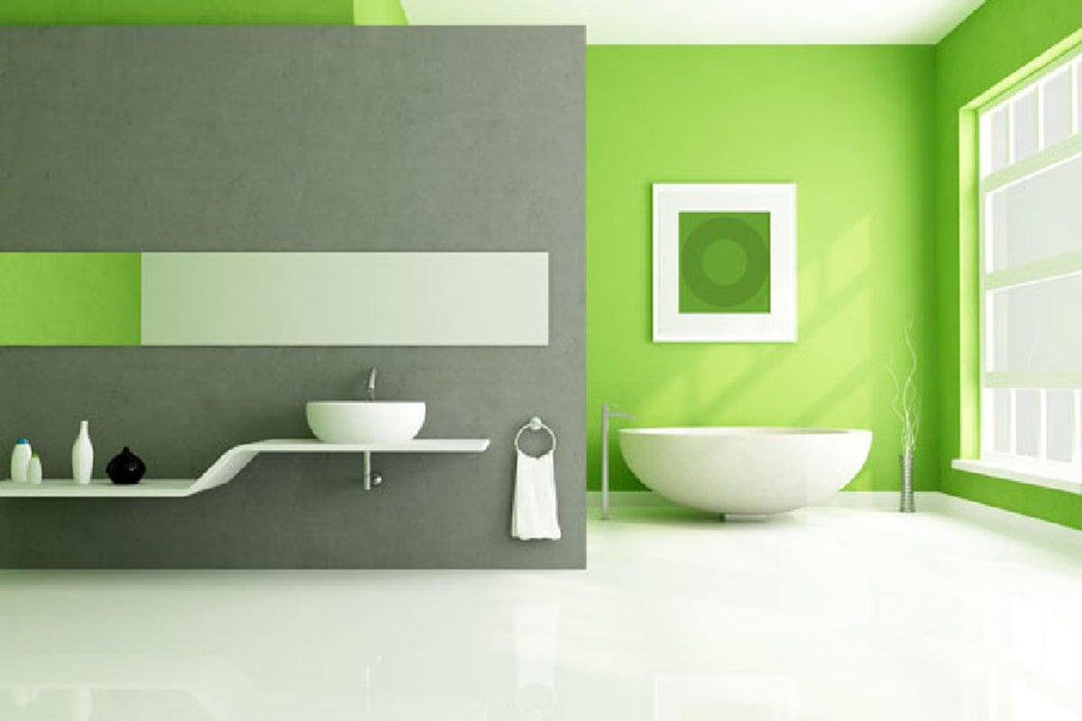 Come arredare il bagno con le pareti color verde lime