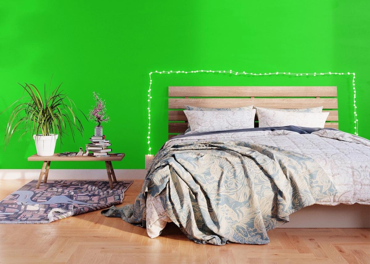 camera-da-letto-pareti-verde-lime-7