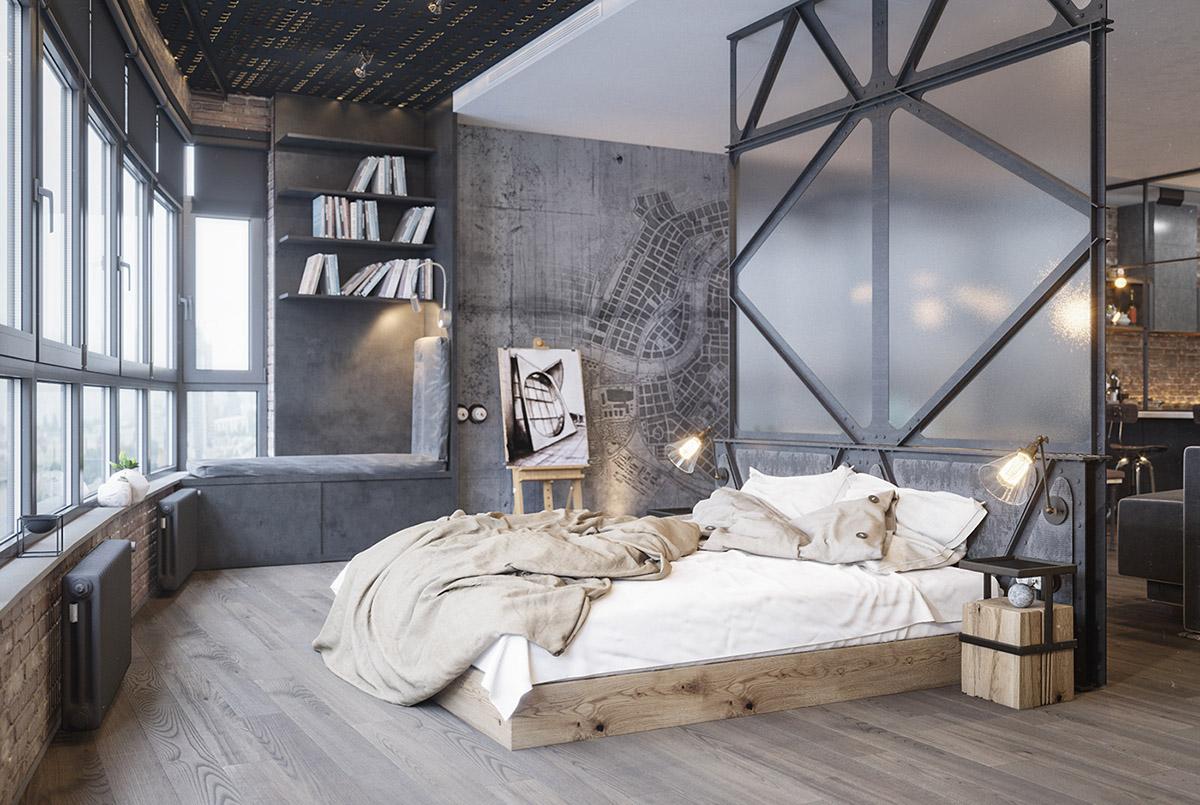 camera-da-letto-stile-industrial-chic-13