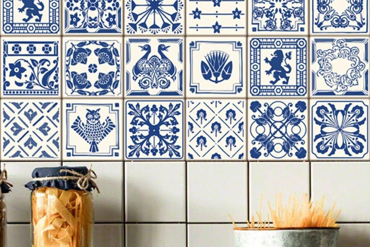 Piastrelle cucina in stile greco: effetto vintage