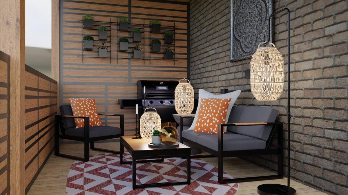 Abbellire-un-balcone-in-stile-bohemien-