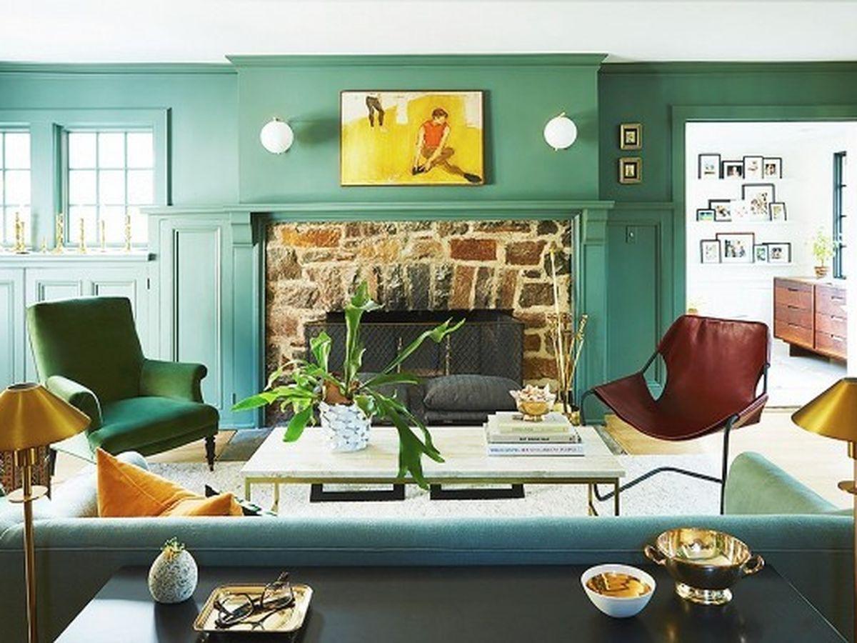 Soggiorno pareti color giada: l'idea da provare