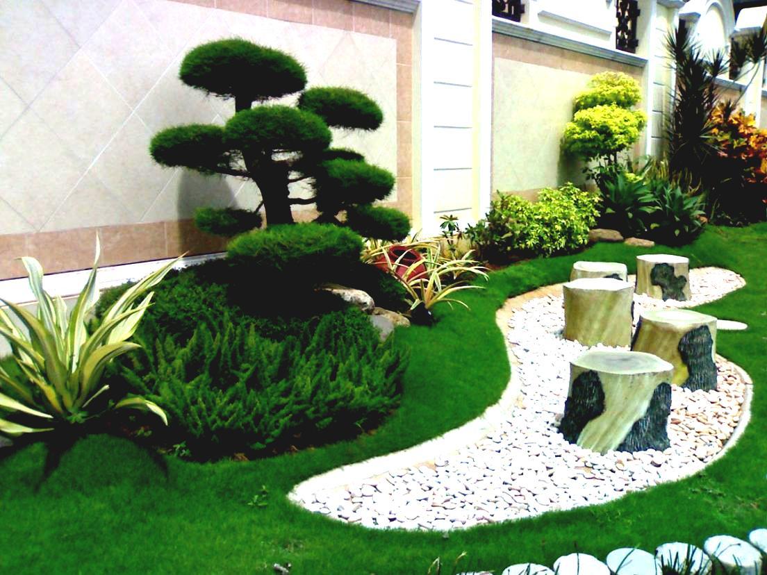 Decorare il giardino con sassi