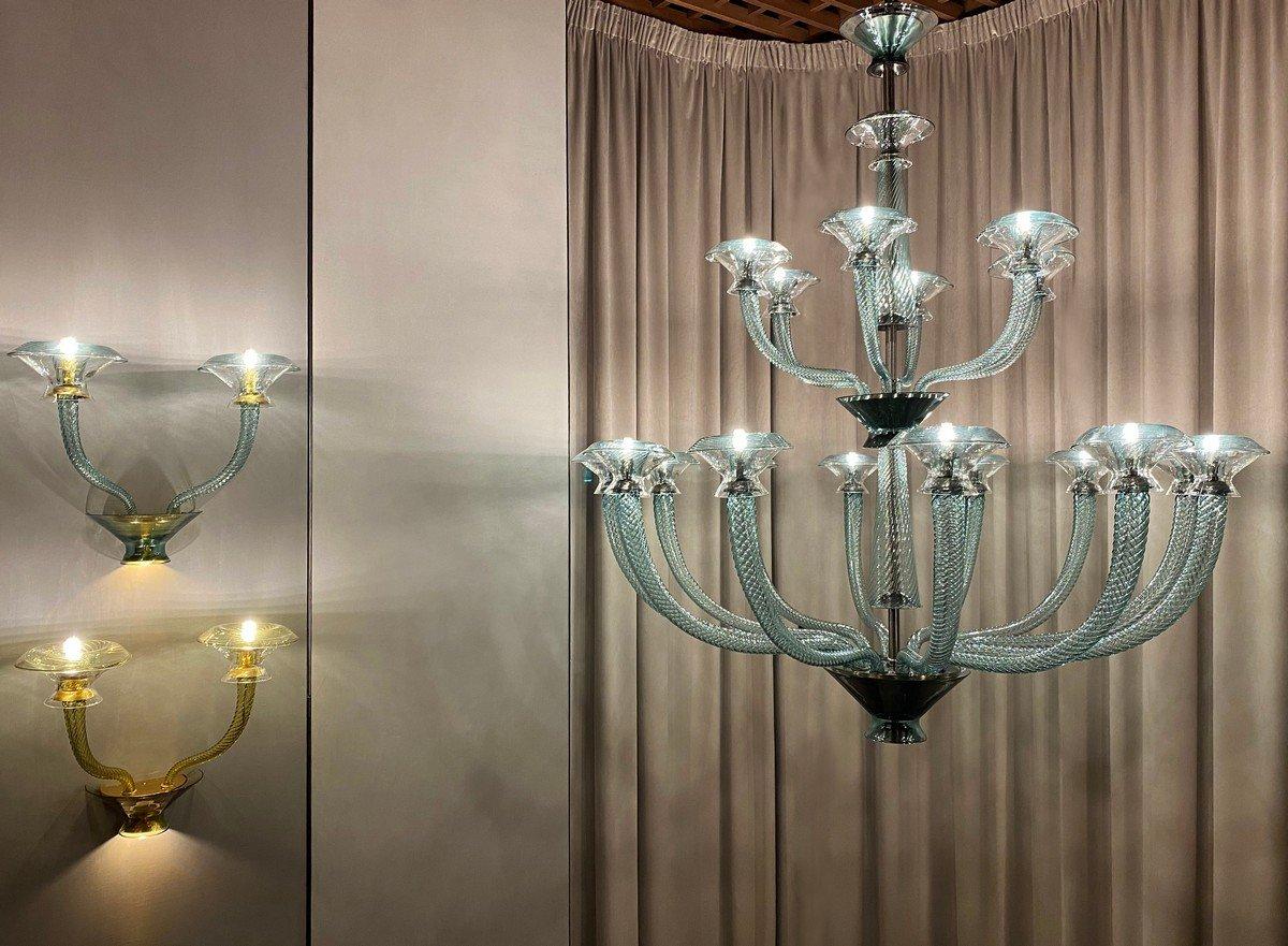 Fuorisalone 2021 Barovier&Toso: le nuove collezioni di lampadari, Vertigo e Metropolis